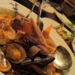 メインの魚介料理